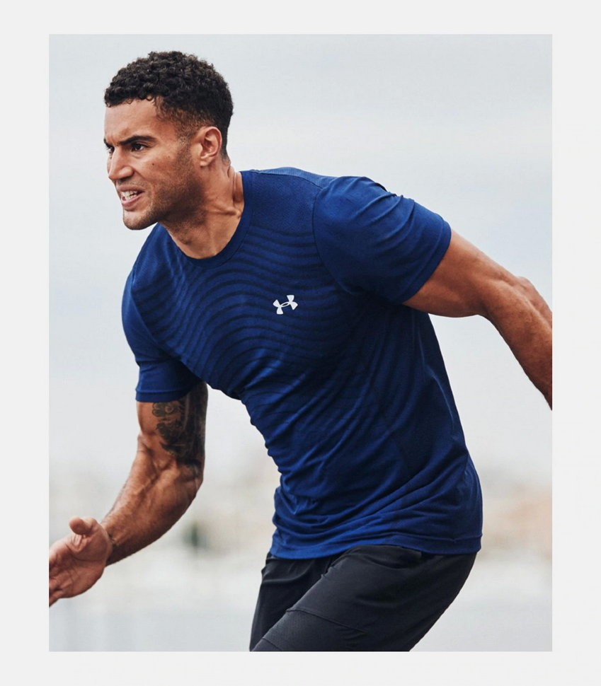 Футболка Under Armour Seamless Wave SS 1351450-449 в Челябинске
