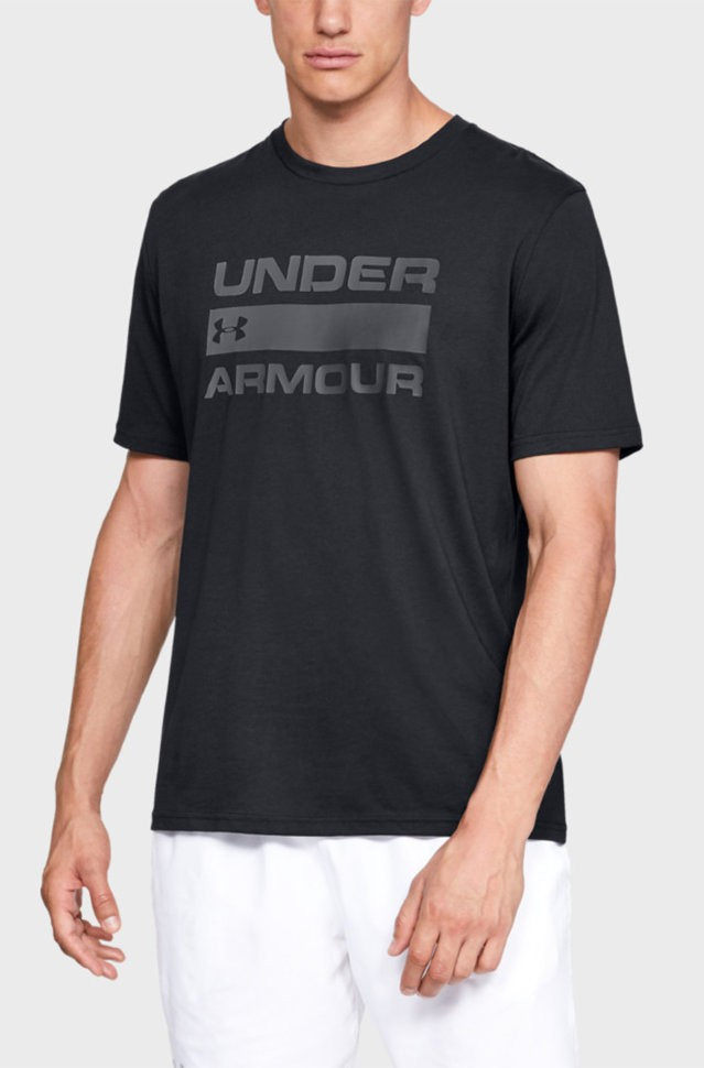Футболка Under Armour UA TEAM ISSUE WORDMARK SS Black /  / Rhino Gray 1329582-001 в Челябинске